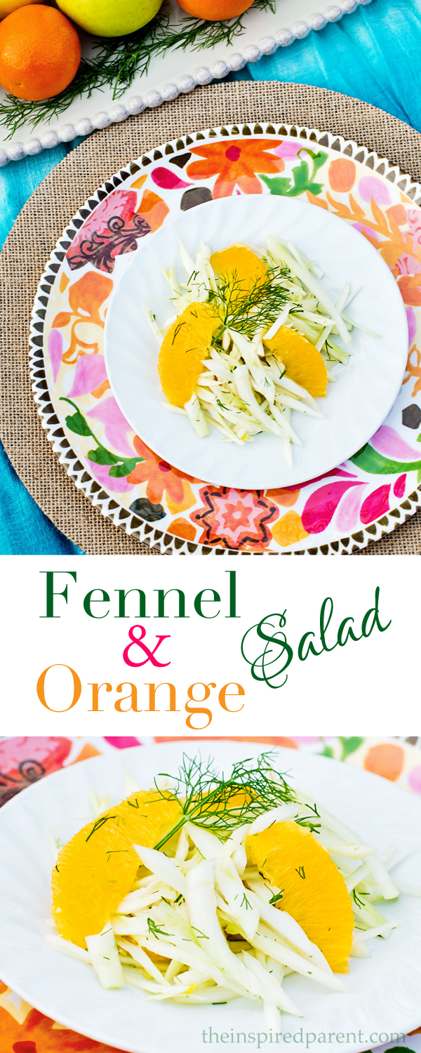 Fennel & Orange Salad | theinspiredparent.com
