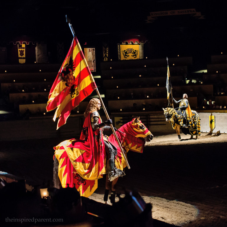 Red & Yellow Knight - Medieval Times | theinspiredparent.com