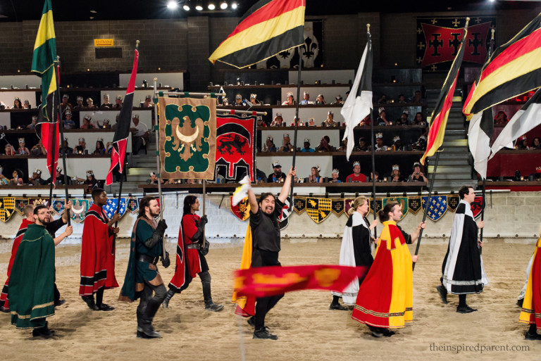 Our awesome server (center) took part in the opening ceremony & he made sure to wave to our section to get all of us cheering for the Red & Yellow Knight. He made our dining experience such a treat!