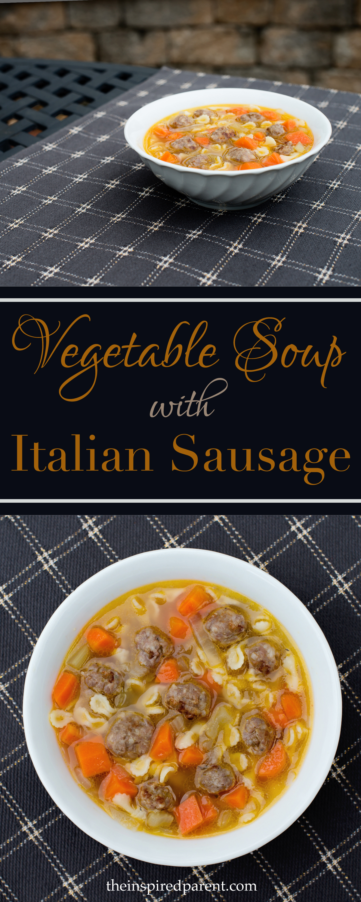 Veggie Soup with Italian Sausage | theinspiredparent.com
