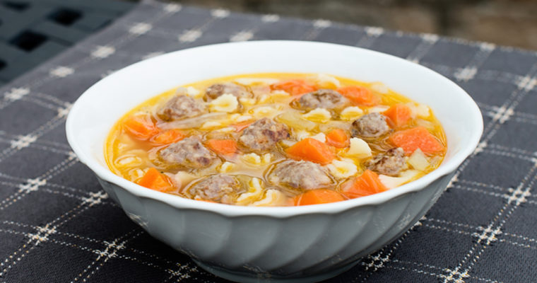 Vegetable Soup with Italian Sausage