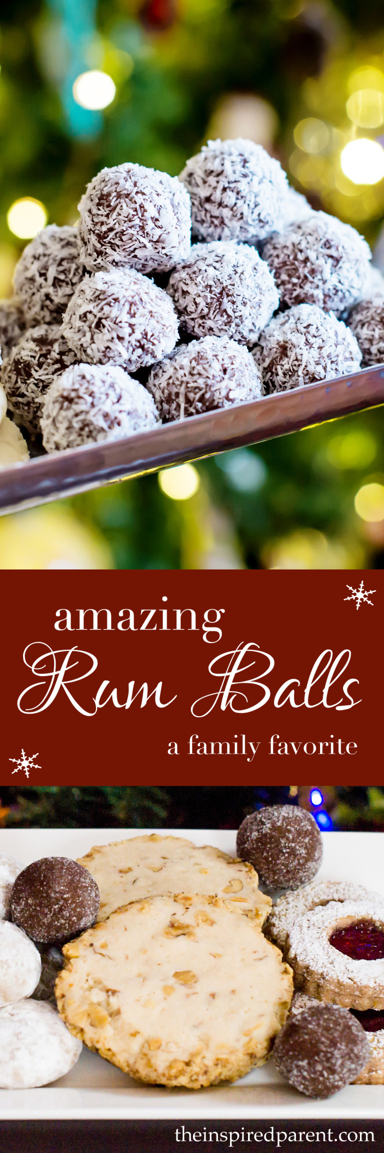 Rum Balls | theinspiredparent.com